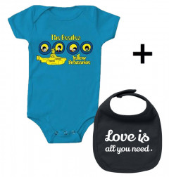 Beatles Baby Body & Love is all you Need Lätzchen