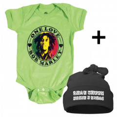 Bob Marley Baby Body & Don't Worry Mützchen