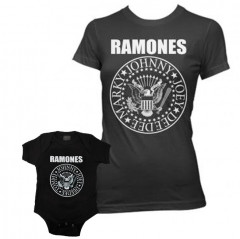 Duo Rockset Ramones Mutter-T-shirt & Ramones body baby rock metal
