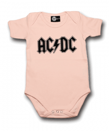 AC/DC body baby rock metal Logo Pink