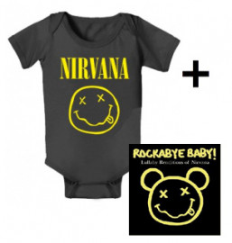 Nirvana body baby rock metal Smiley & Nirvana Rockabyebaby CD