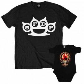 Duo Rockset Five Finger Death Punch Vater-T-shirt & Five Finger Death Punch body baby rock metal