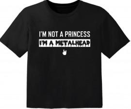 Metal Baby Shirt I'm not a princess I'm a Metalhead