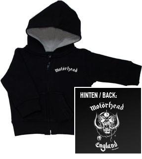 Motorhead Kinder Sweater/Kapuzenjacke/ Zip Hoodie/Kapuzenjacke England