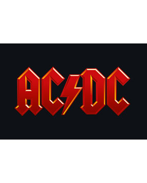 AC/DC logo baby body