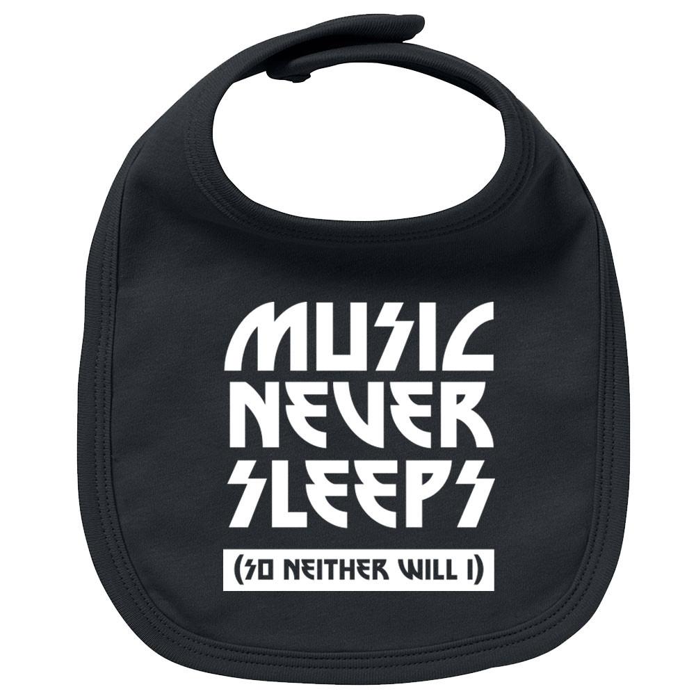 Rock Baby Lätzchen music never sleeps