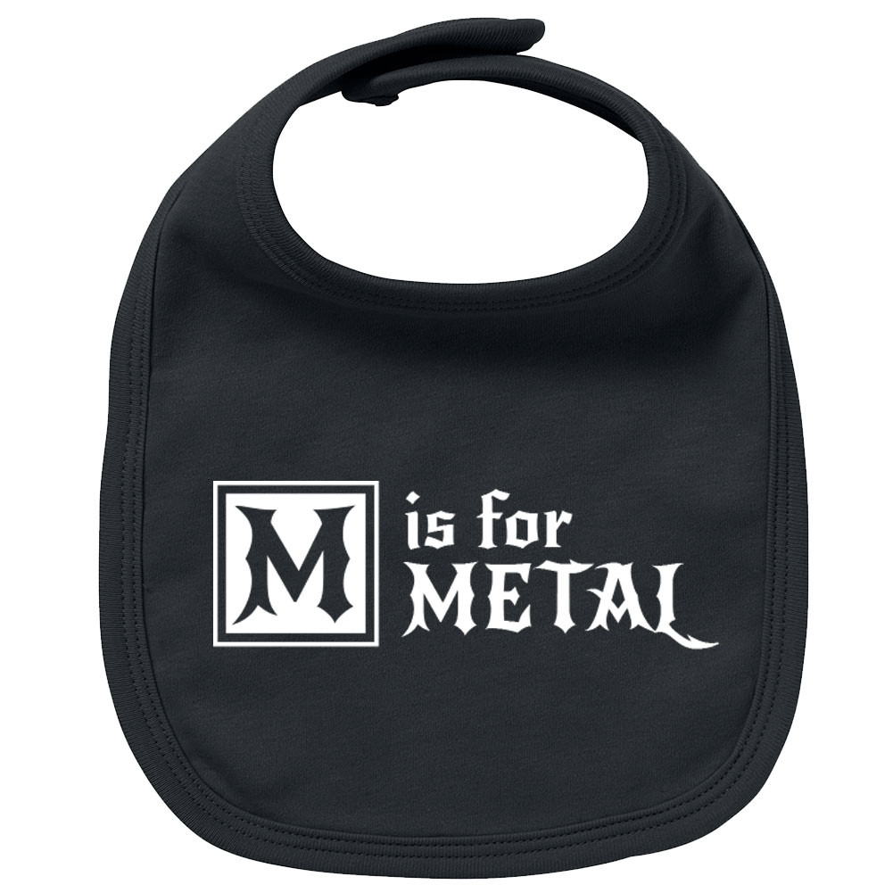 Metal Baby Lätzchen M is for Metal