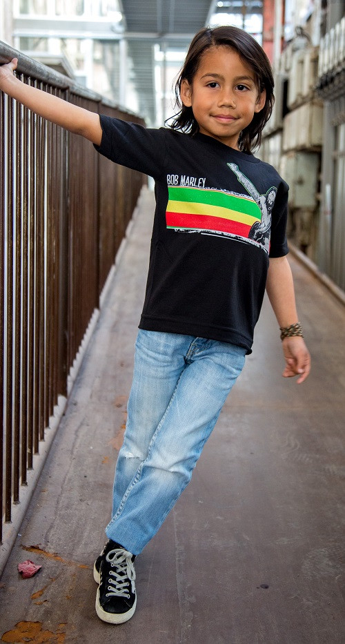 Bob Marley Kinder T-shirt Stripe foto-shooting