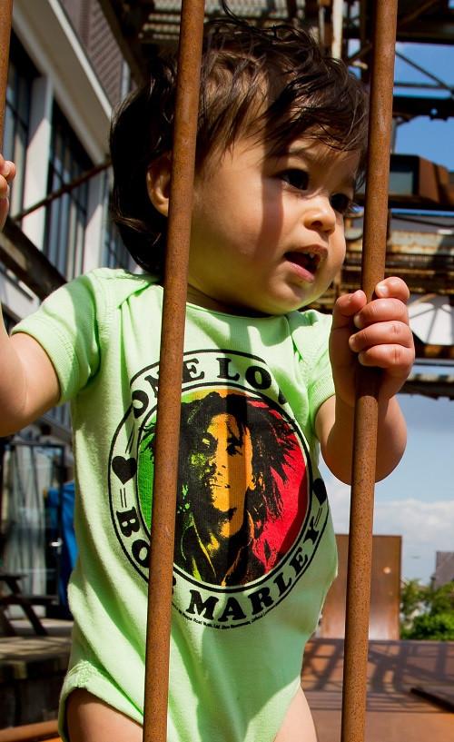 Bob Marley Baby Body One Love Lime foto-shooting