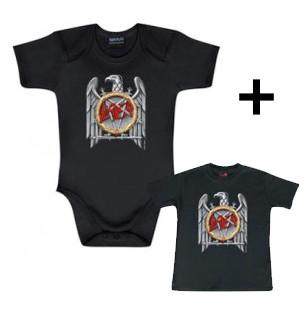 Slayer body baby rock metal Silver Eagle & Slayer Baby T-shirt Silver Eagle