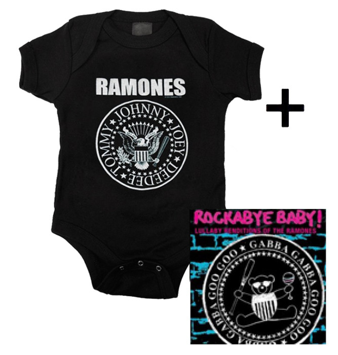 Cadeauset Ramones Baby Romper Logo & Ramones CD