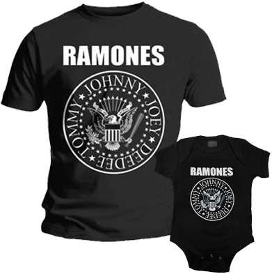 Duo Rockset Ramones Vater-T-shirt & Ramones body baby rock metal
