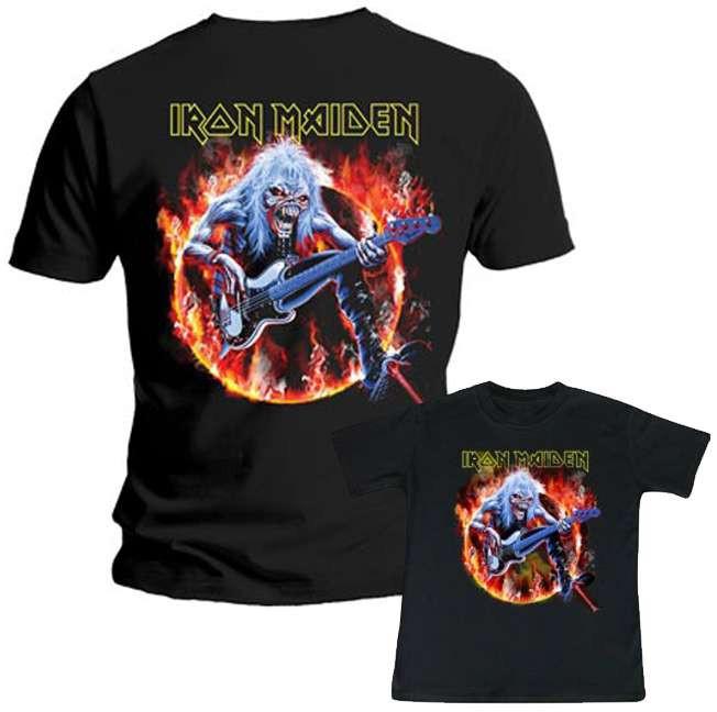 Duo Rockset Iron Maiden Vater-T-shirt & Iron Maiden Kinder-T-shirt