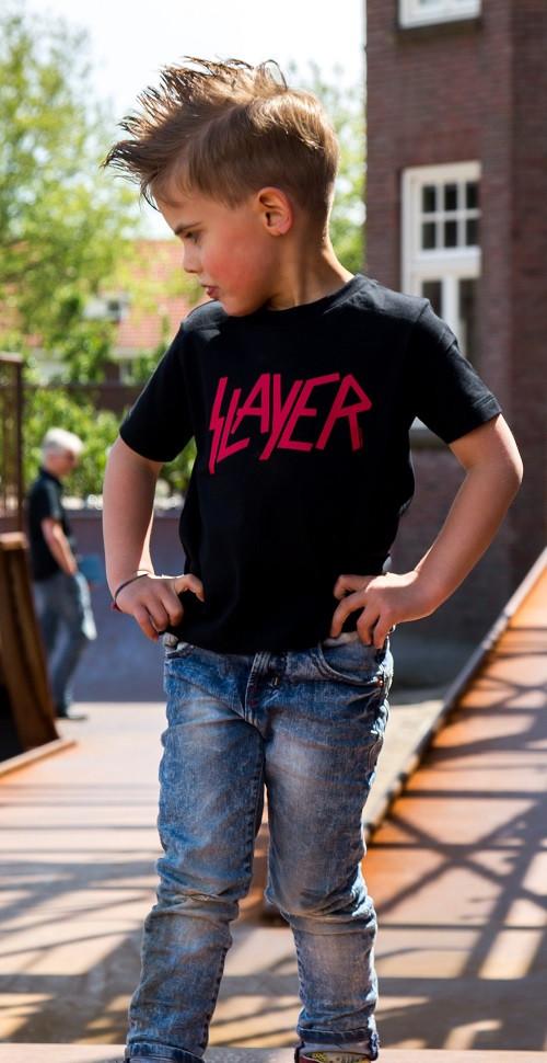 Slayer Kinder T-shirt Logo Red foto-shooting