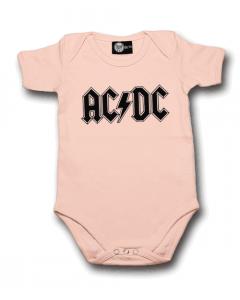 AC/DC Baby Body Logo Pink