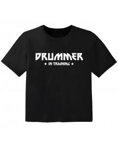 Rock Baby Shirt drummer in training